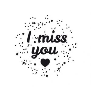 I miss you – heart in space