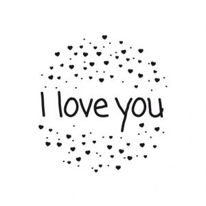 I love you – heart sparkles