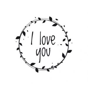I love you  – laurels