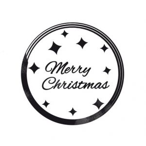 Merry christmas – Glamour badge