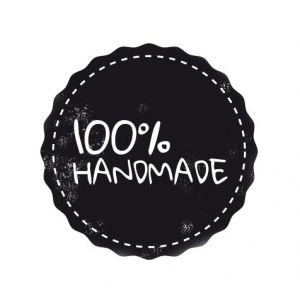 100 % handmade – badge